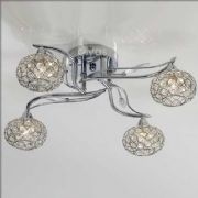 Leimo 4 Light in Polished Chrome and Crystal - DIYAS IL30954